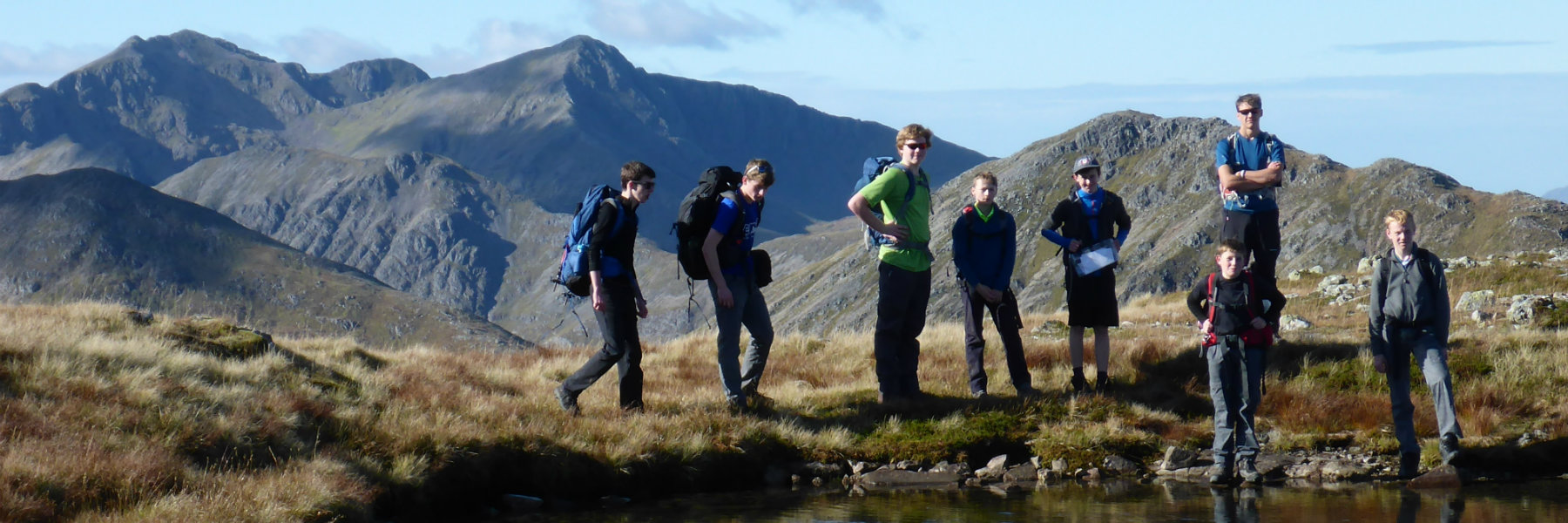 Stewart's Melville College boys at Glencoe