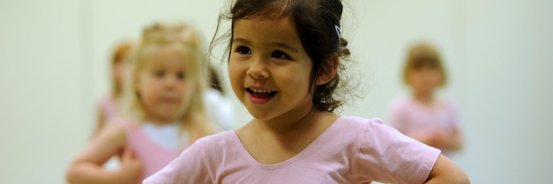 ESMS Nursery child in Ballet class