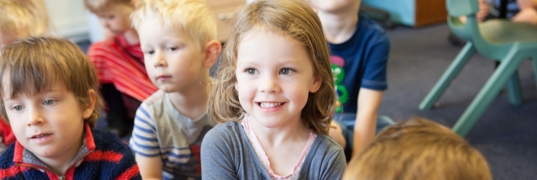 ESMS Nursery children at Story Time