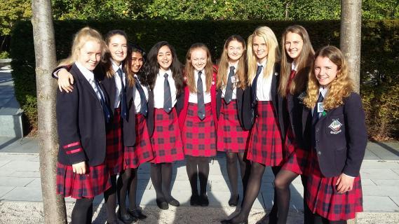 MES Girls at European Youth Parliament