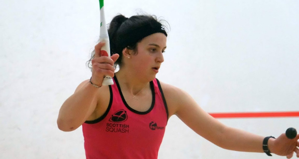 Georgia Adderley playing squash
