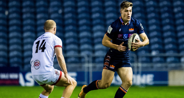 Jack Blain playing for Edinburgh Rugby