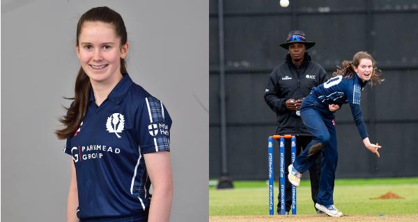 Katherine Fraser representing Cricket Scotland