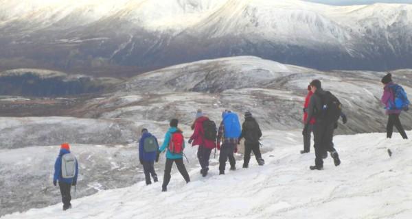 Children hill walking