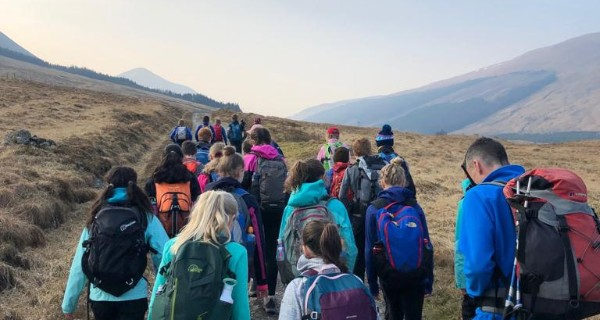 Children Hillwalking