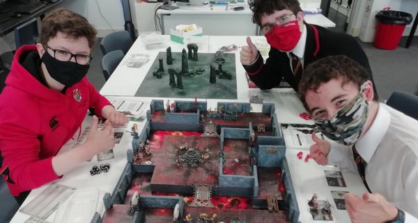 SMC pupils playing wargames