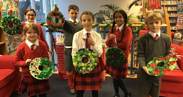 Christmas crafts at the junior school