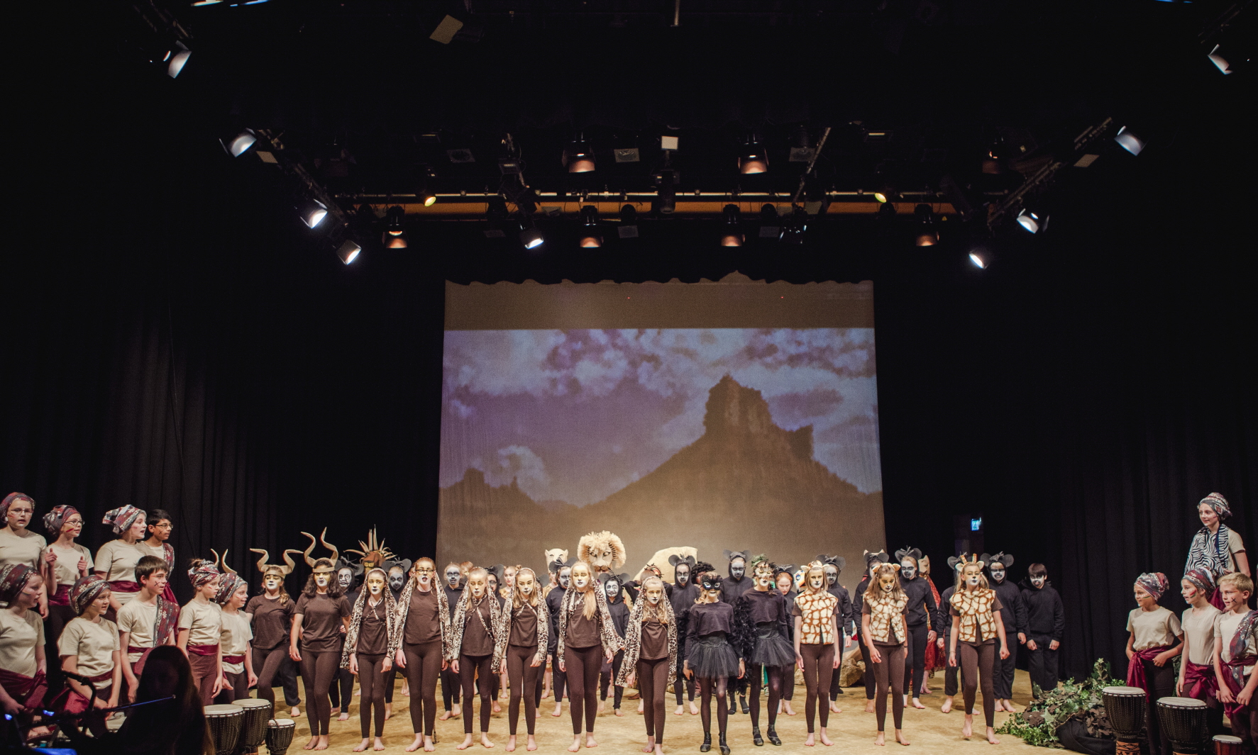 The Lion King performed in the Tom Fleming Centre